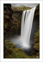 Skogafoss I (Monika Ostermann) Tags: green fall water landscape waterfall iceland skogafoss 100commentgroup monikaostermann