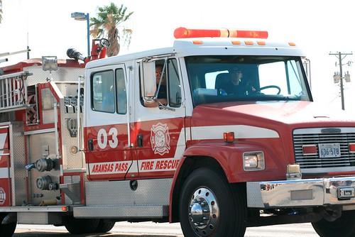 Fire Truck - Aranasa Pass Shrimporee Parade