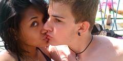 Kiss me! (X O X O L I C I O U S) Tags: sun love me pool swimming kiss piscina swimmingpool sole amore bacio baciami iluviphone