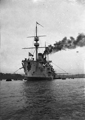 Russian warship Gromoboi (Gromovoi) in Sydney Harbour for Federation of Australia celebrations, 1901 / Albert J. Perier (State Library of New South Wales collection) Tags: ship warship         statelibraryofnewsouthwales