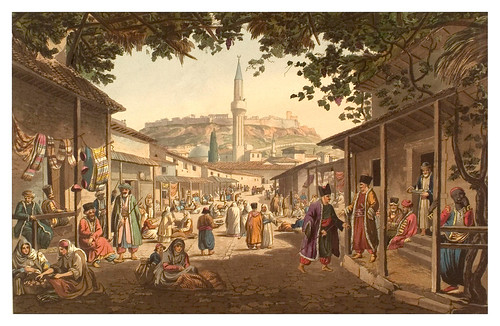 026- Bazar en Atenas-Views in Grece 1821