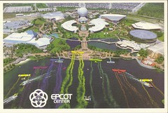 Old Disney Postcards (coconut wireless) Tags: world street club vintage mouse corporate tv orlando epcot postcard main disney mickey fl minnie wdw walt dpn meandering earforce meanderingmouse mmctv