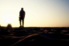 A moment lasts few seconds, but the memory last forever!!! (huseyn fazyl) Tags: sunset shadow sky man black sand huseyn fazyl