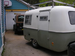 Marty & Cher's Boler new shoes (Marty Smiltneek) Tags: travel trailer boler