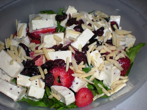 Tofu Strawberry Salad