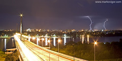 markov igor - storm over novi sad (Markov Igor) Tags: longexposure storm night canon europe cityscape serbia most lightning duna thunder danube novisad grom donau vojvodina srbija rek dunav evropa libertybridge vajdasag munja mostslobode goodexposure sremskakamenica 400d ujvidek ariver