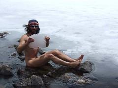Himalayan cold bath eric Lon (Eric Lon) Tags: nepal sunset mountain lake trekking bath eric village lon himalaya annapurnas