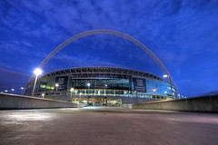 Wembley Stadium at night. (ng matthew) Tags: world cup night canon football stadium fifa ground worldcup 1740mm fa wembley wembleystadium