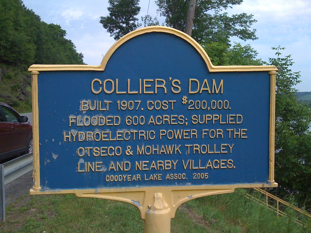New York Historical Marker - Collier's Dam