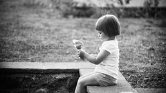 Little Prayer (Korso87) Tags: bw child sweet bokeh innocent icecream fotografinewitaliangeneration