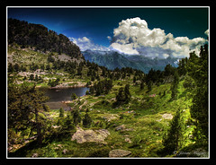 Chamrousse - Lac (Jerome Mercier) Tags: leica wood mountain france green stone clouds montagne alpes photography spirit pierre lac vert nuages hdr ballade sapin bois roche chamrousse randonne marcher isre leicadigilux3 aplusphoto colourartaward bookjm