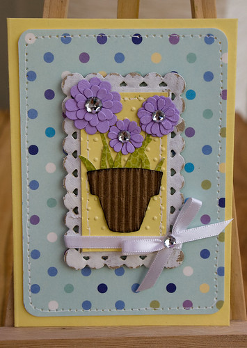 Die Cut Flowers Card (1)