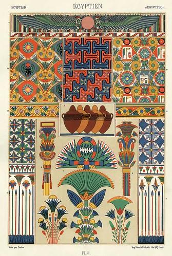 002-Ornamentos policromados egipcios-Das polychrome Ornament…1875