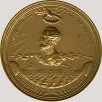 Cyrus Field medal obverse