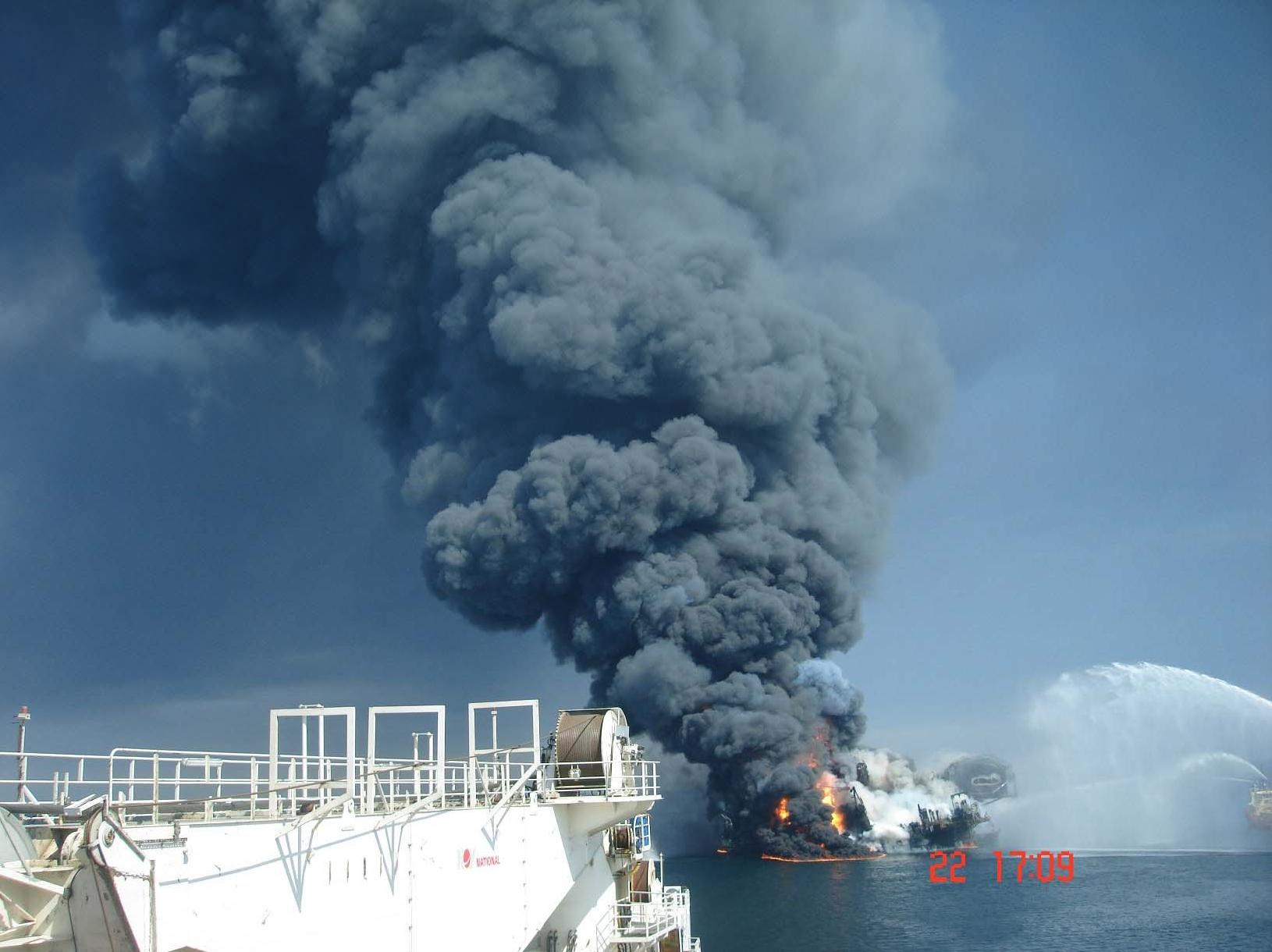 Deepwater Horizon fire