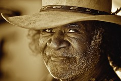 PUBLISHED (ingetje tadros) Tags: travel portrait face sepia canon community desert faces culture tribal wa remote aboriginal westernaustralia broome indiginous memorycornerportraits ingetjetadros