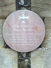 Photo of Church of Saint Swithin brown plaque