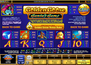 free Golden Goose Genie's Gems slot mini symbol