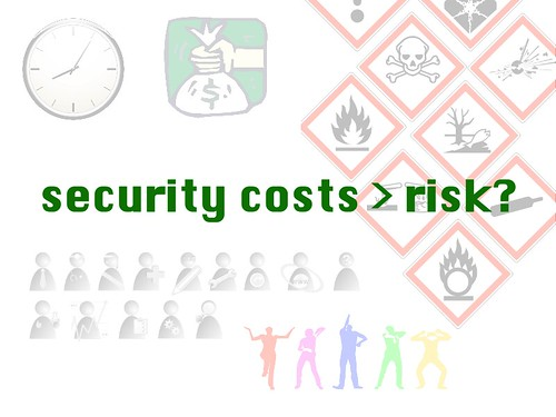 w2sp: Slide 20: Security costs may outweigh risks