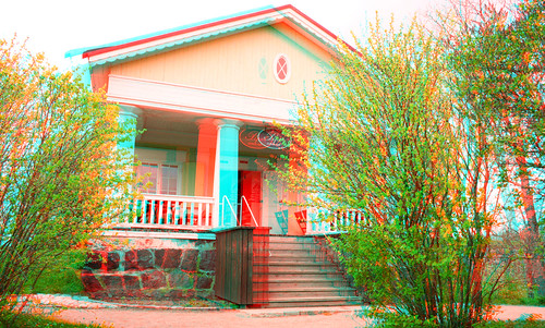 Sveaborg in anaglyph