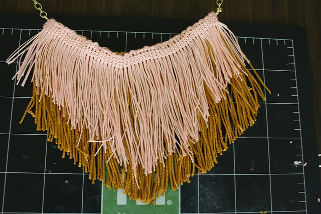 making fringe necklace
