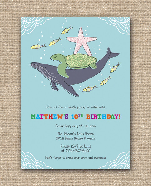 Ocean Friends Party_Blue_Layout, Under The Sea Invitation, Ocean Invitation, Deep Blue Sea Invitation, Beach Party Invitation, Summer Beach Party, Announcement Card, Personalized Party Invitation, Birthday Invitation Designs, Fabulous Invitation Designs, DIY Party Design Invitations, Personalized Invitations