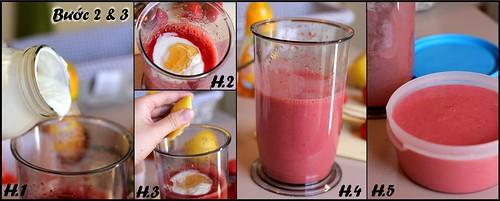 Kem sữa chua dâu tây 2