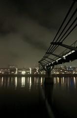 Millennium Bridge (KevanLiz) Tags: london night 100v10f millenniumbridge southbank awalkalongtheriver enlightedbridge lblcomp045