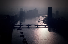 (ًWeda3eah*) Tags: bridge shadow london eye by river long all sweet days qatar kindom bulldings weda3eah unitded