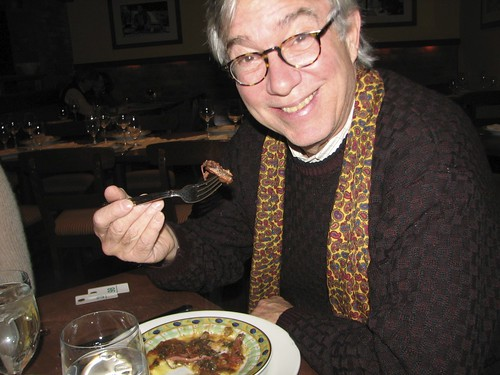 Rudy Rucker dines on cuttle fish in NYC