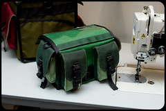 Isn't it cute? (Adam A.) Tags: bike bicycle bag industrial handmade sewing machine handlebar custom randonneur handemade juki handlebarbag zugster
