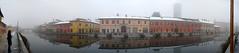 Gaggiano (Sciamano) Tags: panorama snow fog italia stitch milano widescreen pano panasonic 180 neve neige nebbia lombardia stitched brouillard navigli naviglio degrees scighera gaggiano gradi tz5