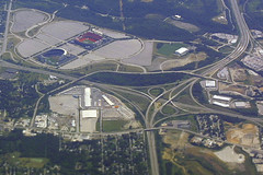 Kansas City Sports Complex (Flightline Aviation Media) Tags: kansascity missouri freeway trumansportscomplex bruceleibowitz