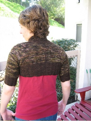 Two Tone Shrug - Back