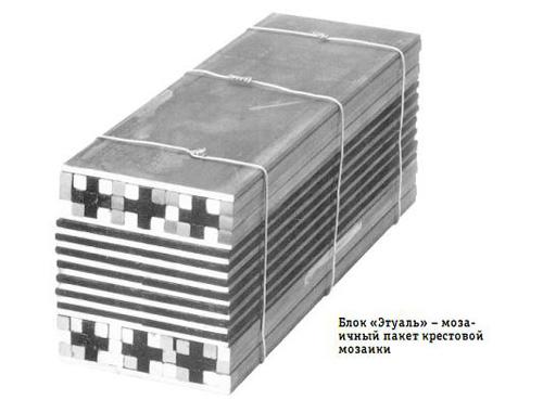 Блок «Этуаль» - мозаичный пакет крестовой мозаики