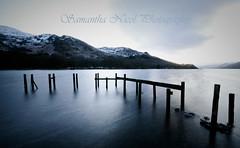Loch Earn Posts (Samantha Nicol Art Photography) Tags: longexposure blue winter snow cold water silhouette night scotland nikon rocks jetty perthshire hills snowcapped loch samantha posts brr earn nicol photosexplore sammikins1976 samanthanicolartphotography