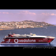 Hellenic Seaway Highspeed 4 Catamaran Passenger and Car Ferry (j glenn montano 3) Tags: car ferry glenn 4 greece catamaran passenger iv montano cyclades mykonos highspeed seaway sporades hellenic saronikos justiniano aplusphoto colourartaward
