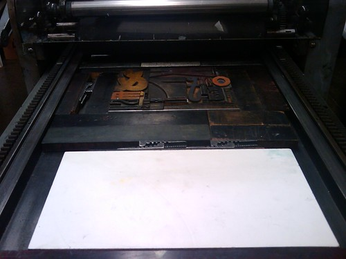 3299559450 3cef6c23de Letterpress Class, Part 3: I Printed Something!