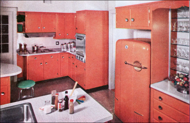 1957 Orange Kitchen!
