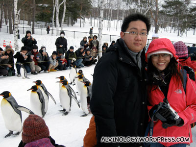 Rachel, me and the penguins