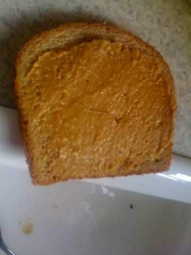 bread and peanut butter