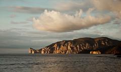 Nuvole su Pan di Zucchero - Sardegna versione 2 (solasulmare) Tags: sardegna tramonto nuvole mare isola nwn sulcis insenatura fontanamare barbarameloni