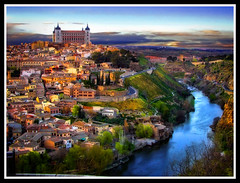 Dreamin' of Toledo (Charlie Wild) Tags: city sunset espaa castle colors ro river painting landscape atardecer spain hill dream ciudad toledo colina tajo ocaso castillo hdr alczar ltytr2 ltytr1 ltytr3