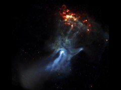 The Hand Of God (thegreatlandoni) Tags: energy hand god nasa observatory galaxy nebula astrophotography generators xray spinning intriguing astronomy cosmic pulsar electromagnetic chandra electrons magneticfield ions otw beautifulexpression b1509 neutronstar psrb150958