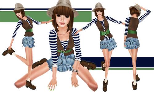 <p>NoaRからユニセックスのボーダーTとベストのセットが2色展開で登場デス! ふりふりティアードスカートでコーディネート♪</p>