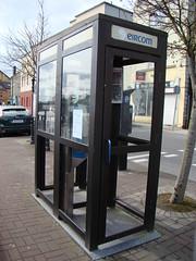Eircom phone box (Cian Ginty) Tags: phone close notice box payphone removal 2008 phonebox eircom callcards