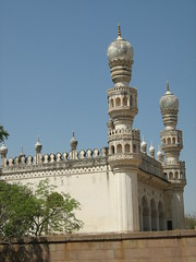 Mosque adjoining Mausoleum of Hayat Bakshi Begum (jyoti pb) Tags: hyderabad charminar golconda