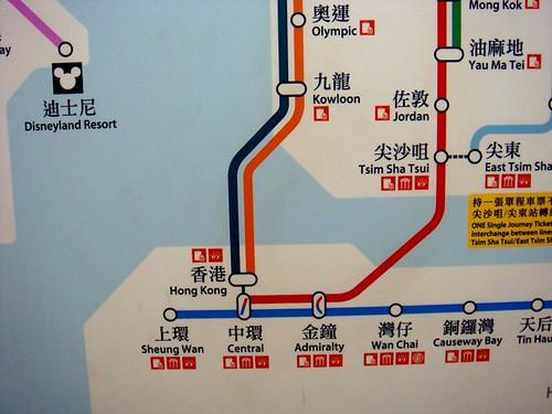 你拍攝的 香港地鐵線。
