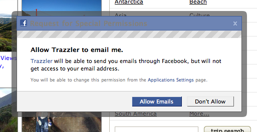 Allow Trazzler to email me.