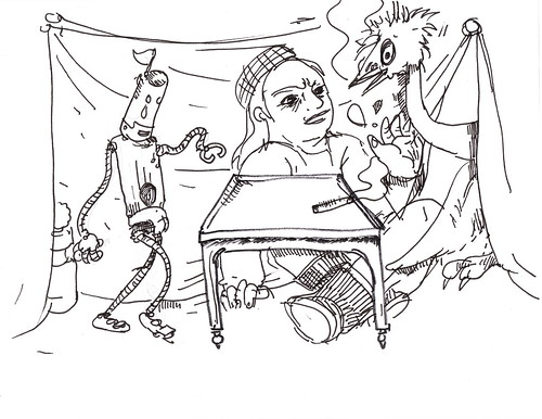 robot & beret girl 03